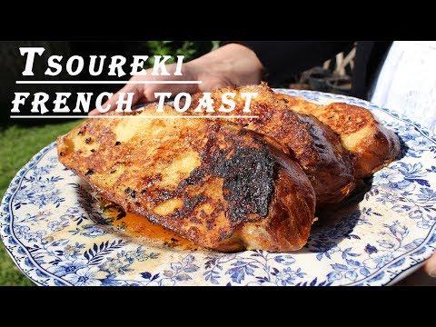 Tsoureki French Toast: French Toast Made with Greek Brioche