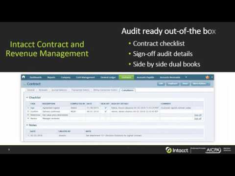 How Intacct Automates ASC 606/IFRS 15 Accounting and Revenue Recognition