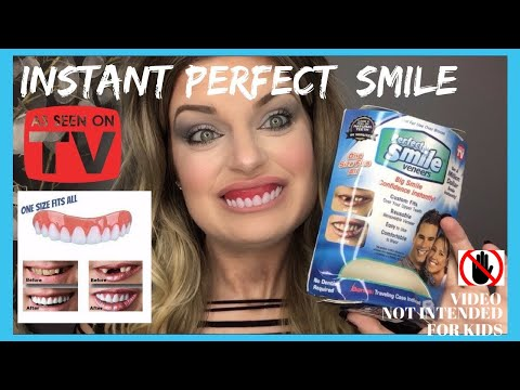 Perfect Instant Smile Press On Veneers Demo & Review
