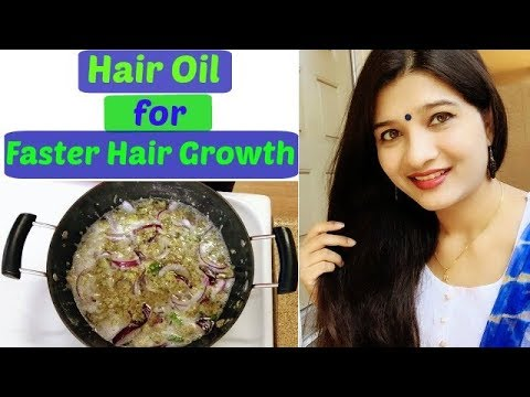 Hair oil for faster hair growth in Hindi | Make Your Hair grow faster | How to grow hair naturally