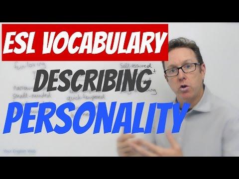 English words for describing personality - palabras en inglés