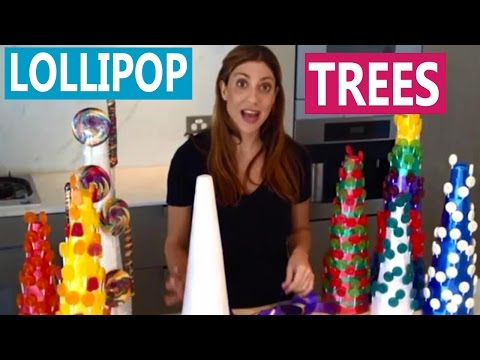 How To: DIY Lollipop Trees / Sweet Stand for a Candy Buffet