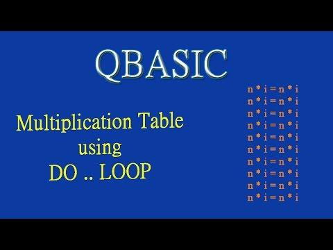 14 Tutorial on Print Multiplication Table using DO LOOP QB (by Technical School)