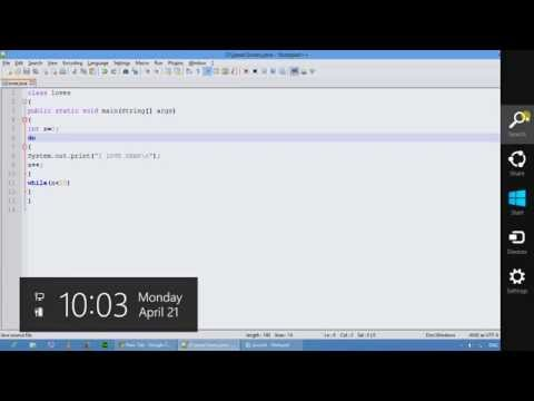 Do while loops in java