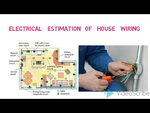 Electrical estimation /electrical house wiring estimation