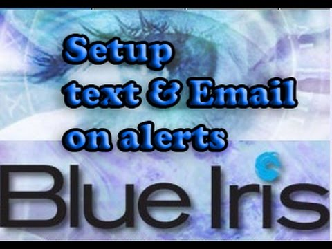 Blue iris setup to send text and email on alerts