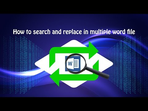 Word find and replace in multiple word file?