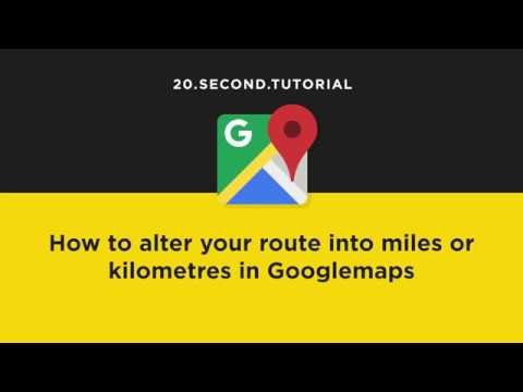 Show route as Miles or Kilometres in Googlemaps | Google Maps Tutorial #21