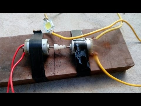 how to make a generator with dc motor