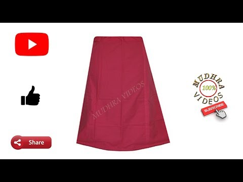 4 pannelled saree petticoat # DIY # part 84