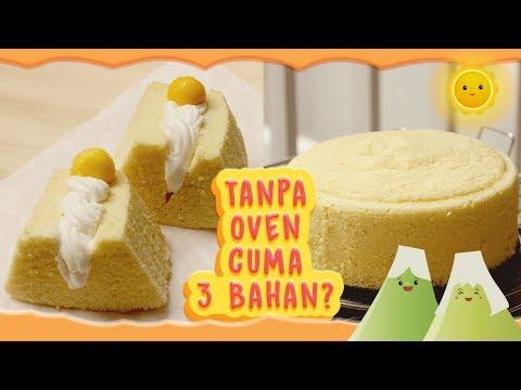 BOLU KUKUS 3 BAHAN | RESEP BOLU TANPA OVEN | NO OVEN SPONGECAKE | STEAMED EGG CAKE