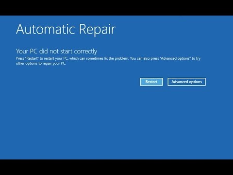 STARTUP REPAIR COULDN'T REPAIR YOUR PC- FIX THIS PROBLEM IN WIN. 8/8.1/10