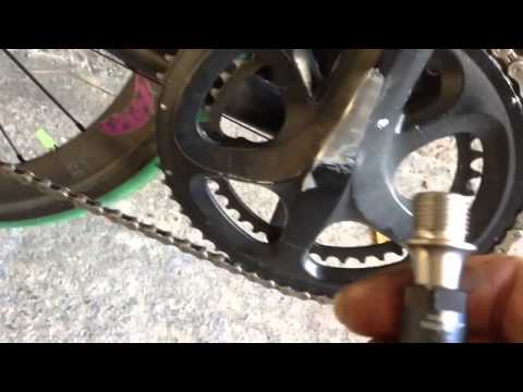 How to remove pedals/shimano 105/XTR