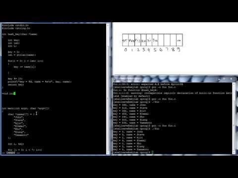 C Programming in Linux Tutorial #063 - Hash Program
