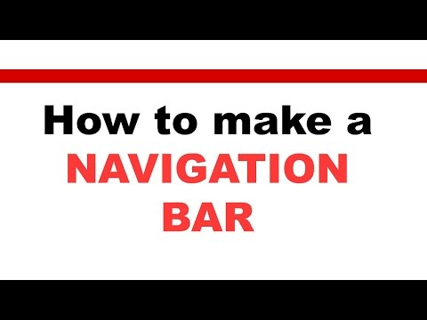 Navigation Bar In Html & CSS [How-To] Navigation Bar tutorial