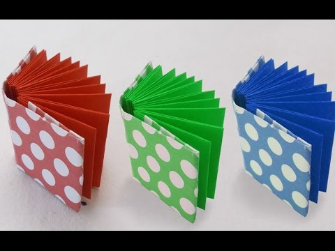 DIY Project Ideas : How to Make a Mini Origami Book | Kids Crafts Simple Origami