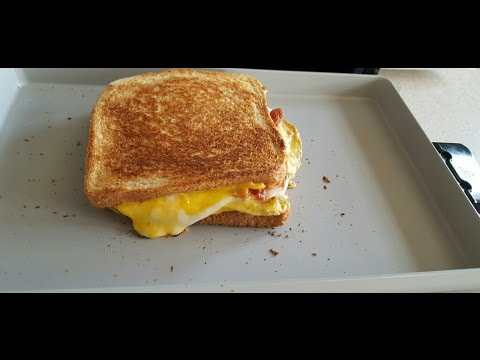George Foreman Bacon, Egg, & Cheese sandwich breakfast griddle GBR5750S Grill & Broil