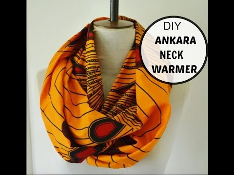 DIY: ANKARA NECK WARMER. REVERSIBLE SCARF (EASY SEWING)