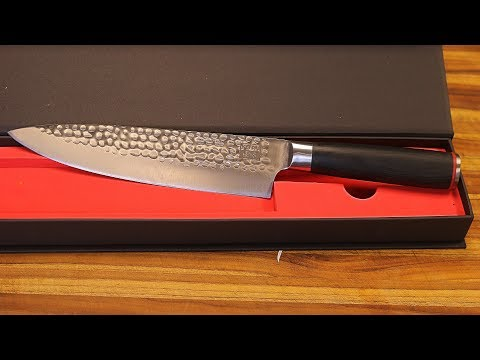 Kotai Gyuto Chef Knife Unboxing - sharp stainless cutlery review