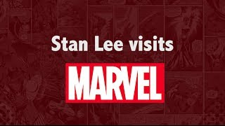 Stan Lee Visits the Marvel Office