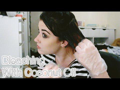 Bleaching My Hair Over Coconut Oil