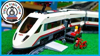 LEGO CITY HIGH SPEED PASSENGER TRAIN! Fun Toy Trains for Kids