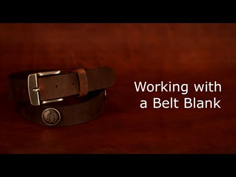 Adding a Buckle and Conchos to a Belt Blank