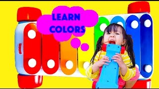Learn Colors For Kids - Xylophone Colours Fun With Fisher Price Musical Toys Children Toddler