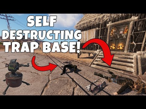RUST | SELF DESTRUCTING TRAP BASE! *SECRET AUTO TURRET*