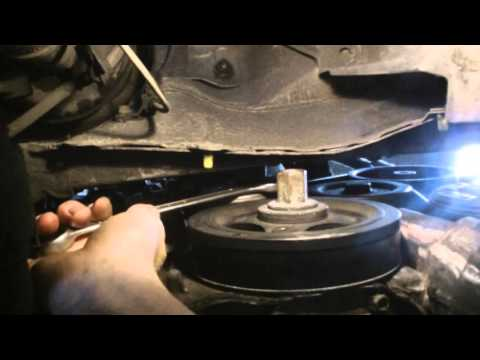 how to remove the serpentine belt toyota D4D 2.2 avensis