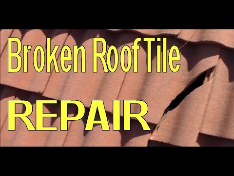 Repair Broken Concrete Roofing Tile
