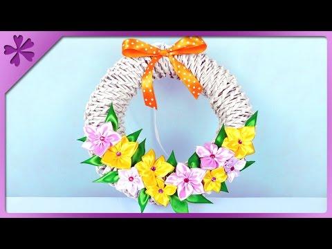 DIY Paper wicker wreath (ENG Subtitles) - Speed up #320