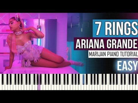 How To Play: Ariana Grande - 7 rings | Piano Tutorial EASY + Sheets