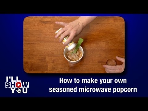How to make your own seasoned microwave popcorn