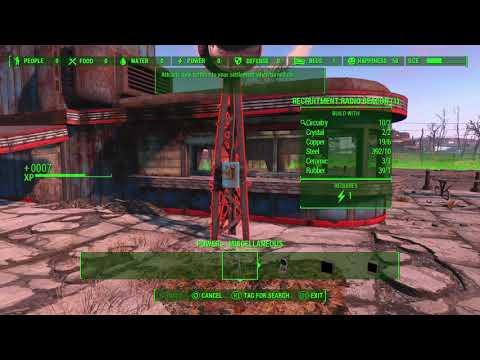 Fallout 4 Starlight .Drive-In Setting up a Radio Beacon