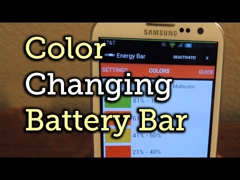 Color Code Your Battery Percentage with Energy Bar on Your Samsung Galaxy S3 [How-To]