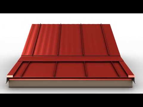 How to Install Standing Seam Metal Roofing - Slope Transition Trim