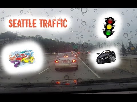 Commute to work in Seattle traffic - Driving Timelapse
