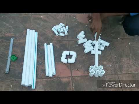 Pvc pipe pot stand