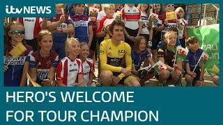 Tour de France champion Geraint Thomas returns to Cardiff | ITV News