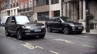 Two 2013 Range Rover Autobiographys in London - Land Rover Promo Event?