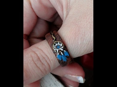 Tutorial:Dreamcatcher Ring / Polymer Clay Ring 4