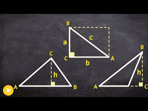 How to find height and understand the formula for area of an oblique triangle