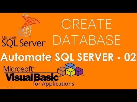 VBA and SQL Server - Create Database in SQL Server using VBA . Part-2