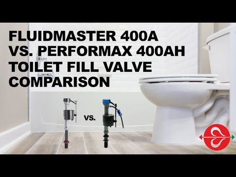 Comparison of Fluidmaster 400A and 400AH PerforMAX® toilet fill valve