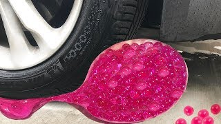 Tire Crushing Crunchy & Soft Things By Car! - Floral Foam, Orbeez Squishy And Slime!