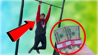 HANG CHALLENGE 2 MINUTES WINS $1000 DOLLARS