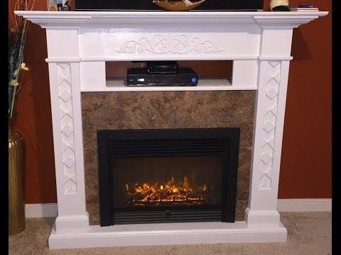 DIY electric fireplace || $250