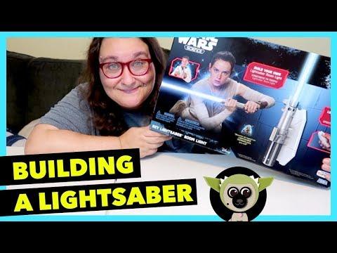 I'm building a lightsaber!!! Star Wars Science: Rey's Light Saber Room Light DIY