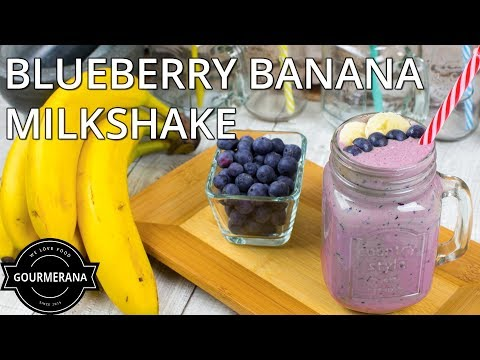 How To Make Blueberry Banana Milkshake - Stop Motion Animation Recipe